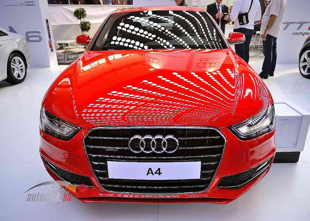 Audi A4 2013 in red color