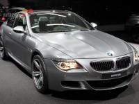 Left view of a matt silver BMW M6