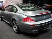 Right view of a matt silver BMW M6