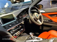 Steering wheel and center console of BMW M6 2012