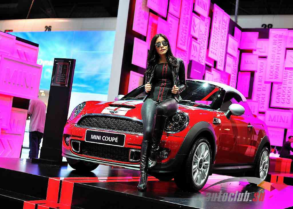 Mini Coupe at Mini booth in the 28th Thailand International Motor Expo 2011