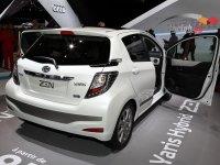 The new Toyota Yaris Hybrid Zen displayed at the 2012 Paris Motor Show
