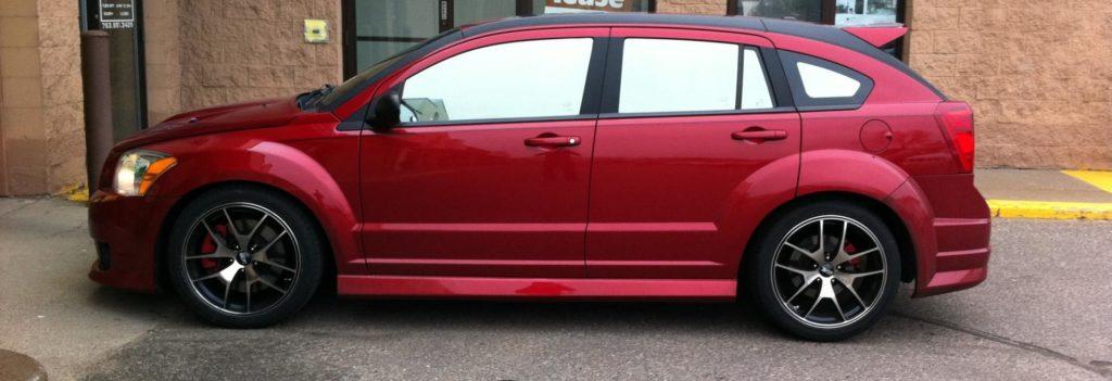 Автомобиль, закатанный зеркальной плёнкой