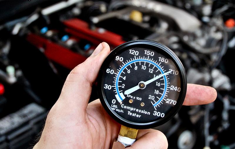 Показания компрессометра