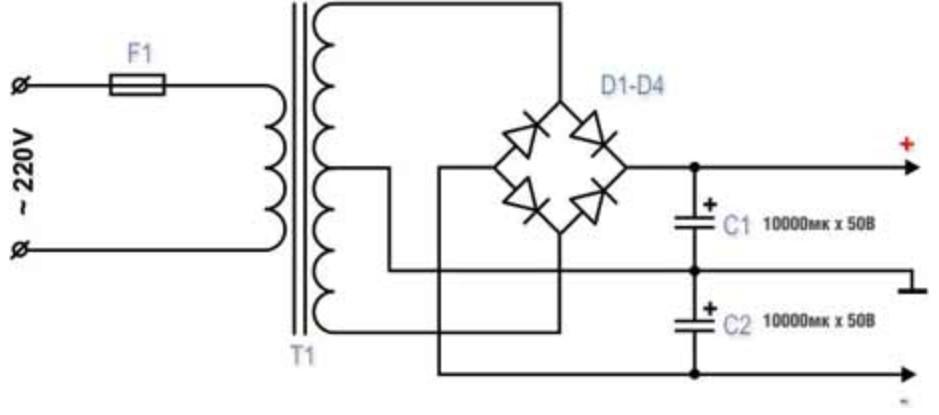 Схема готового трансформатора