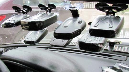 Радар-детекторы на лобовом стекле