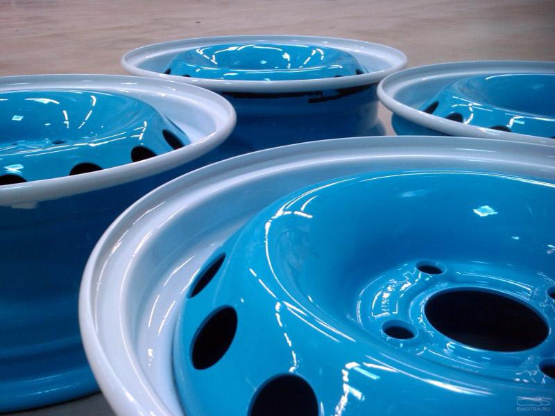 Как покрасить диски в два цвета своими руками 85