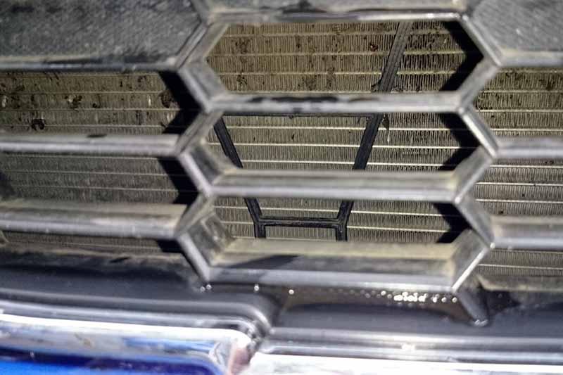 Загрязнённый радиатор
