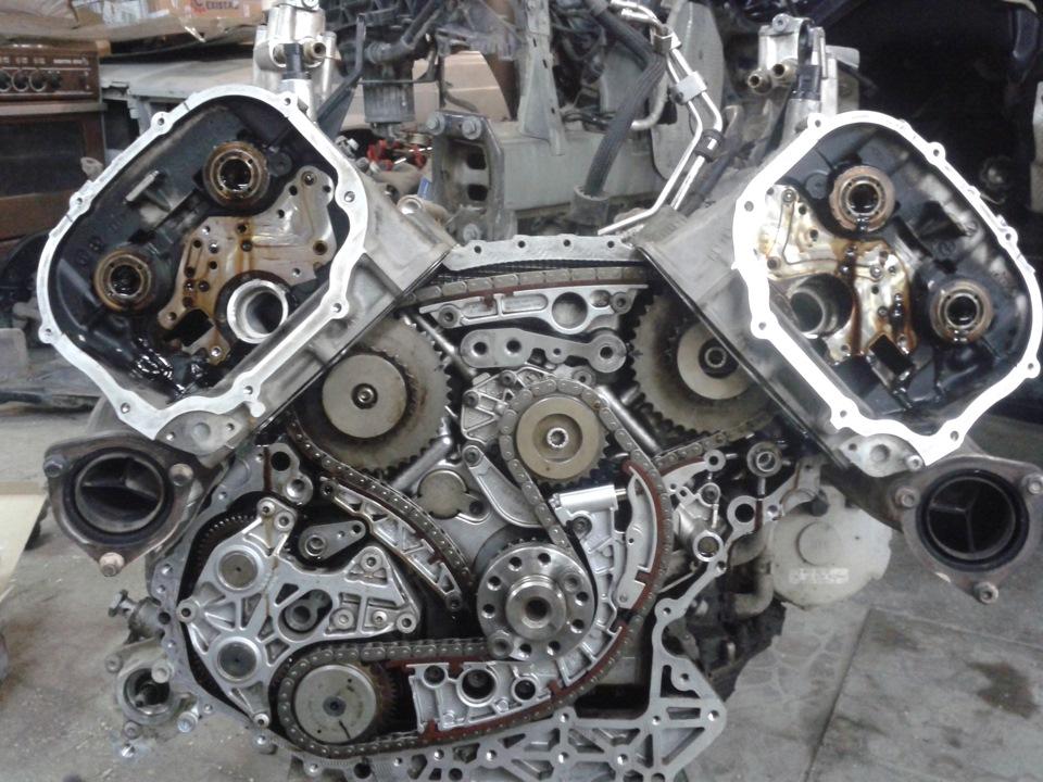 Расположение цепи ГРМ сзади двигателя