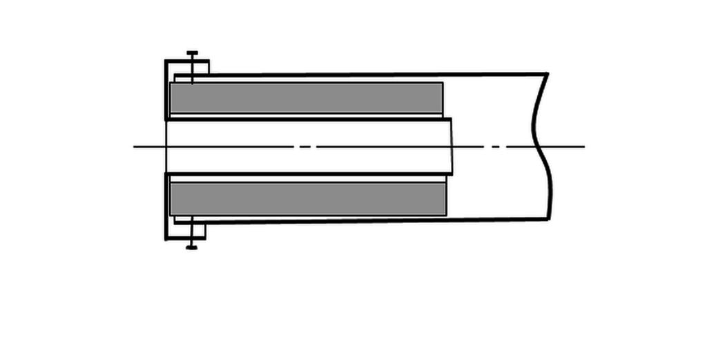 флейта с минеральной ватой (обозначено серым цветом)