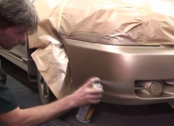 Как правильно покрасить бампер своими руками 16