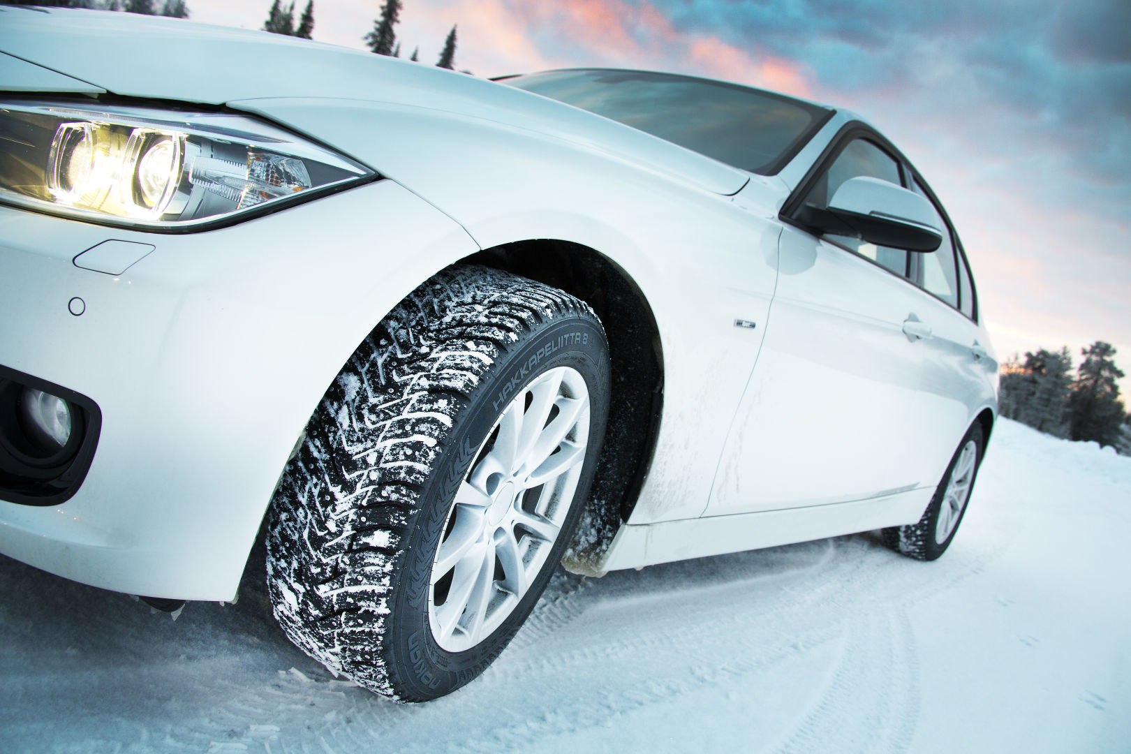 Авто на зимних шинах