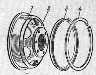 Схематичное изображение колеса