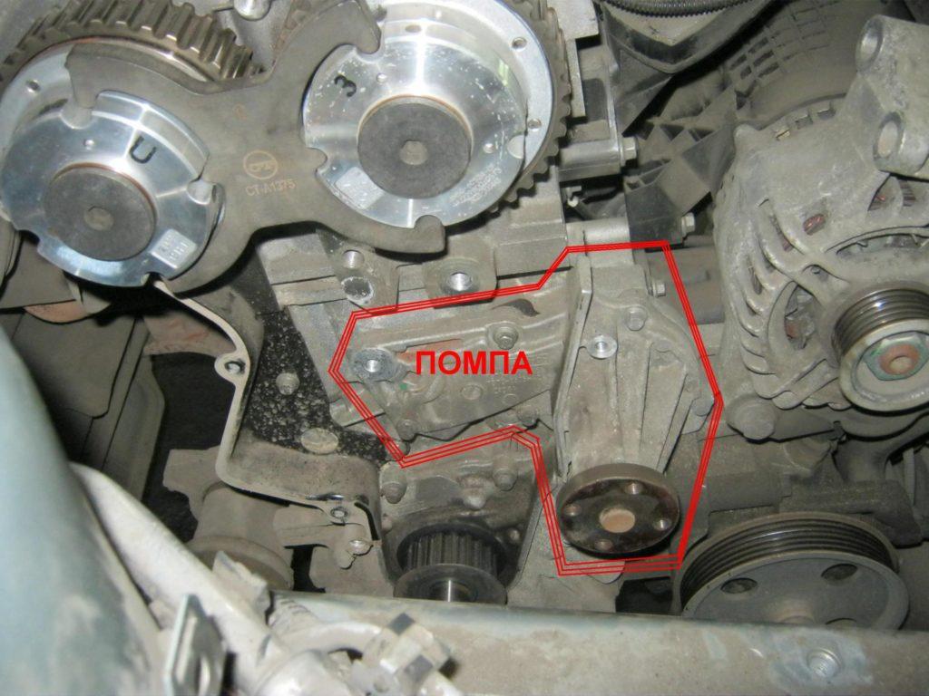 Помпа в конструкции мотора