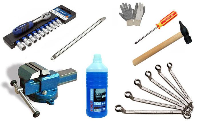 Инструмент для ремонта помпы ВАЗ 2101–07