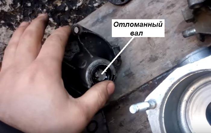 Поломка вала насоса ВАЗ 2101–07