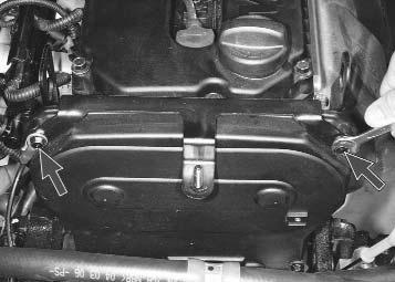 Крепление верхней крышки ремня ГРМ