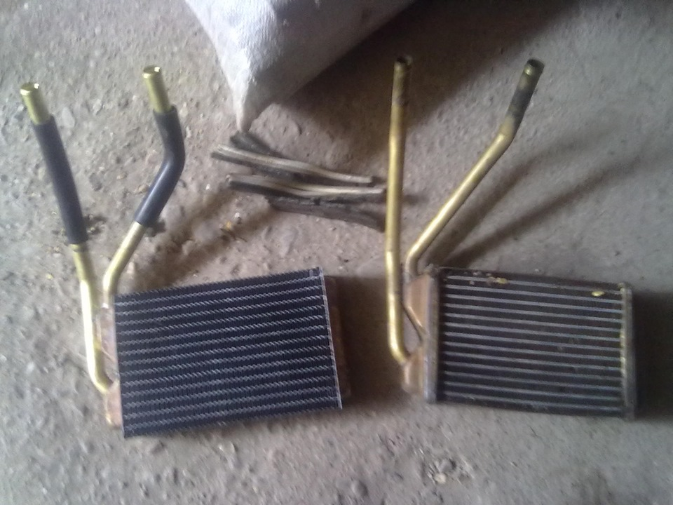 Алюминиевый радиатор печки Daewoo Nexia