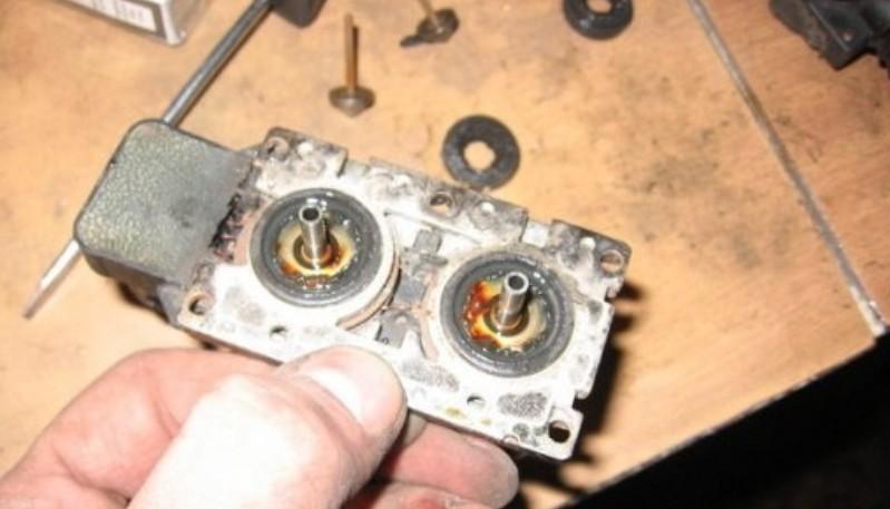 Очистка клапанного блока БМВ Е34
