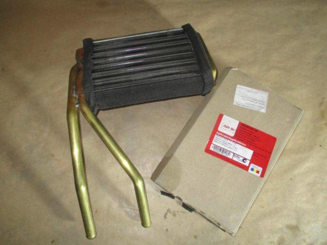 Конструкция радиатора отопителя