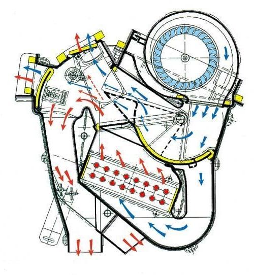 Схема печки ВАЗ 2113–15