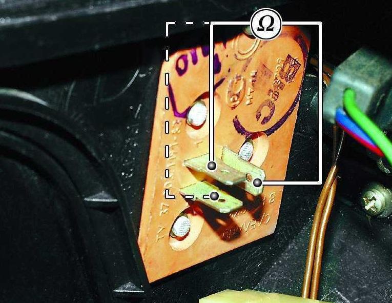 Выводы обмоток резистора печки
