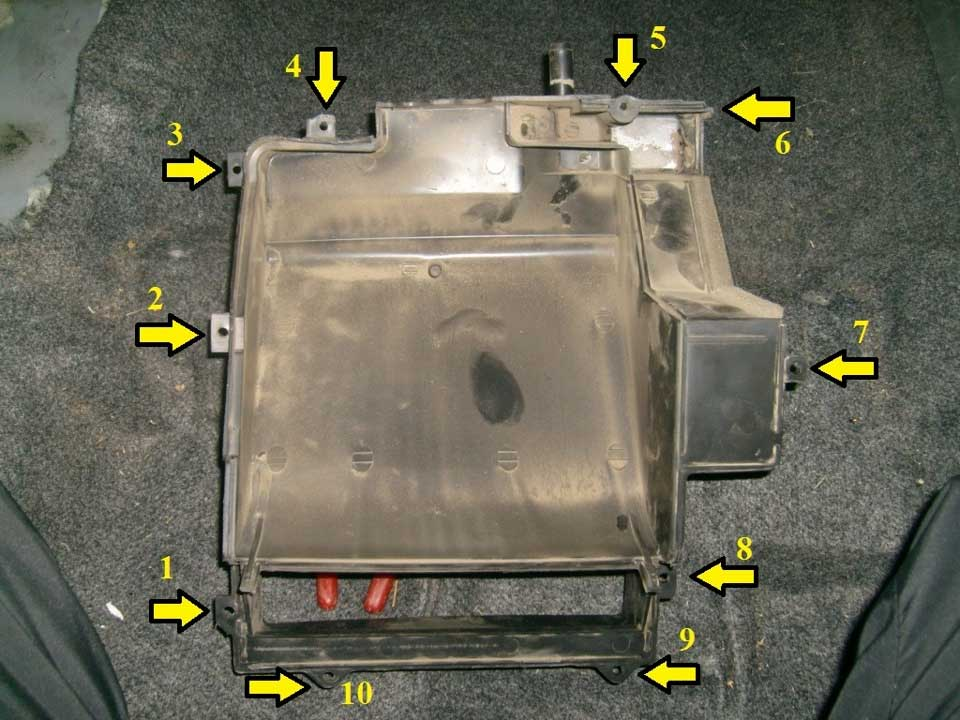 Нижняя часть корпуса печки