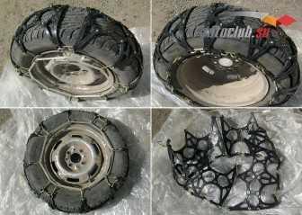 Резиновые цепи на колеса как вид противоскользящего оснащения
