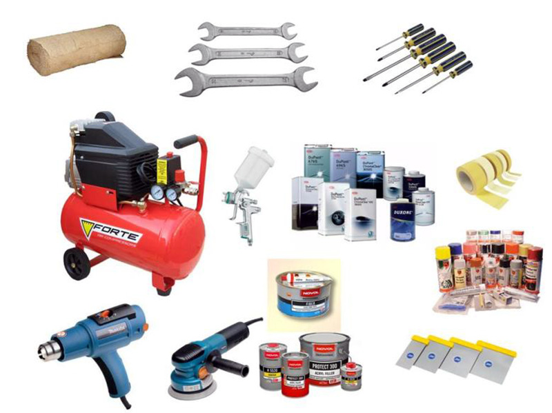 Набор инструментов и материалов