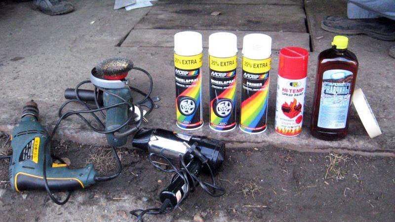 Инструмент для подготовки и покраски