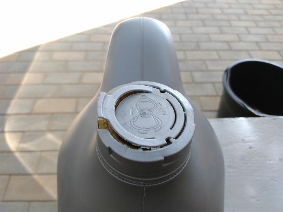 Схема открывания крышки Mobil 1