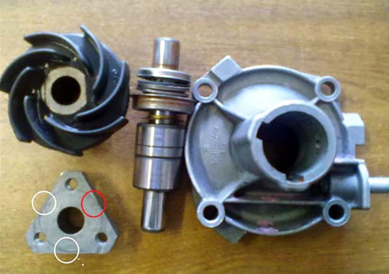 Разборка помпы ВАЗ классических моделей для ремонта