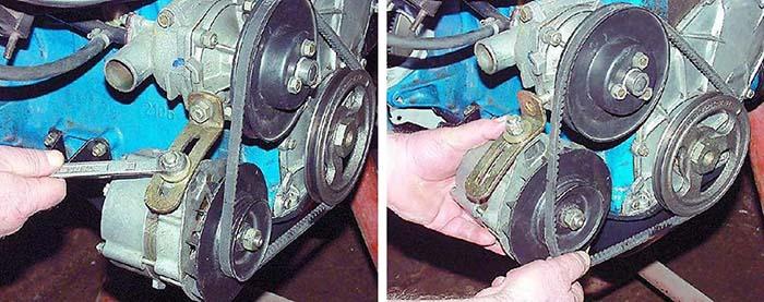 Снятие ремня привода генератора на ВАЗ 2101–07