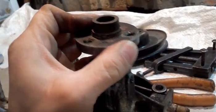 Установка ступицы шкива на вал насоса ВАЗ 2107