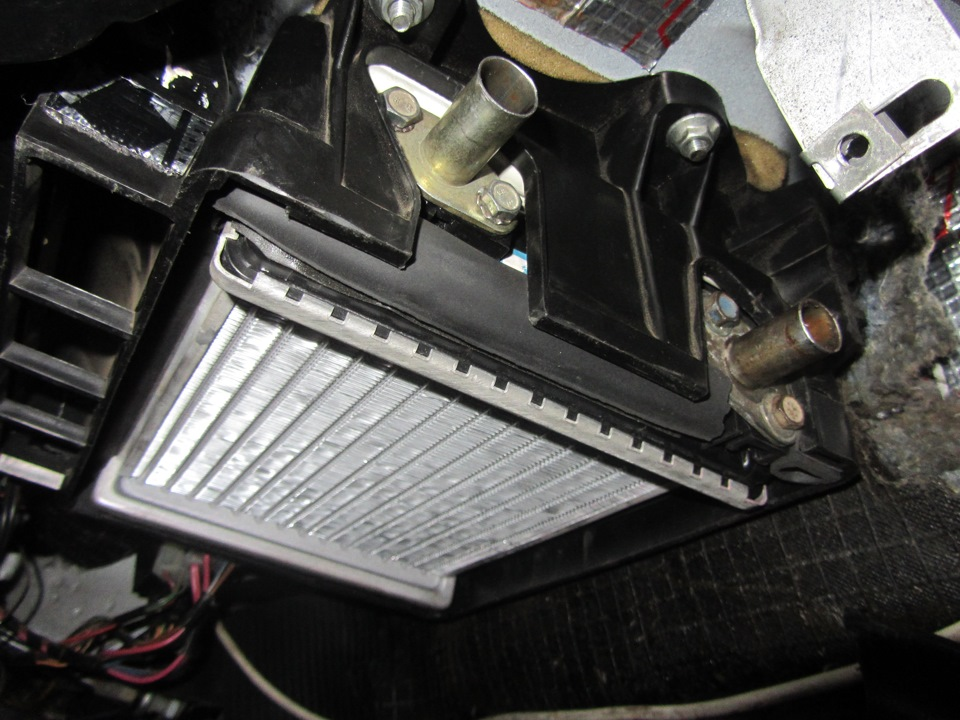 Радиатор: вид снизу
